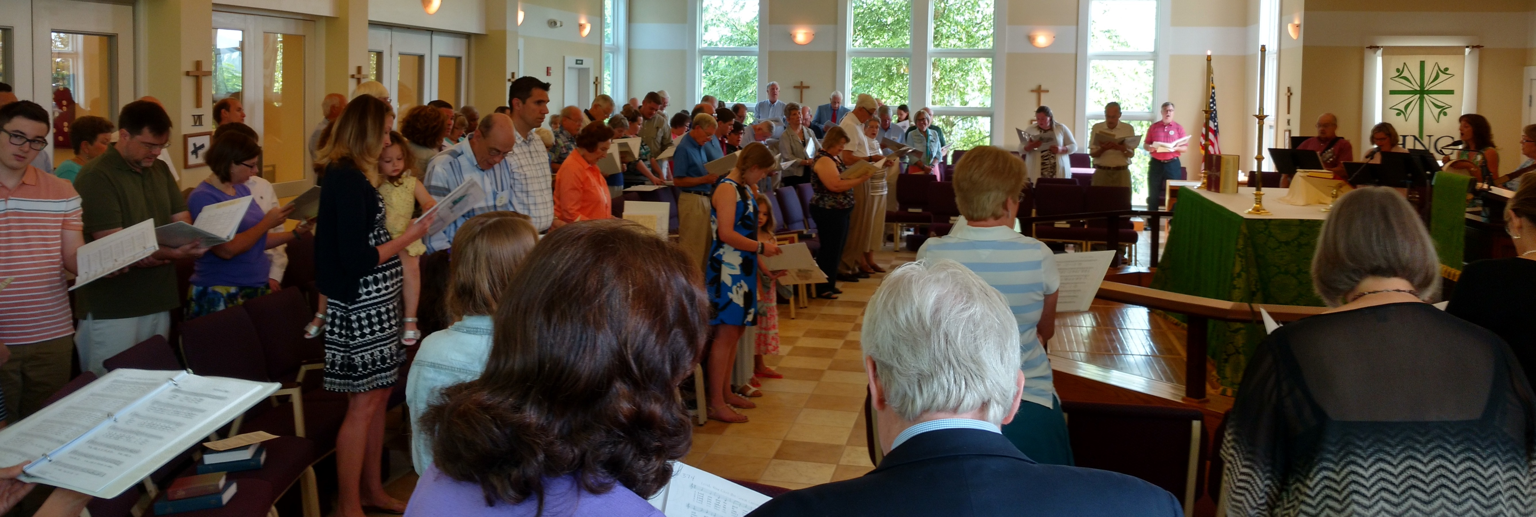 Worship service at Hickory Neck Episcopal Church, Toano, VA